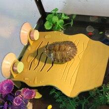 New 2 Color Aquarium Turtle Floating Island Decoration Turtle Basking Climbing Platform Habitat House For Reptile Frog Tortoise