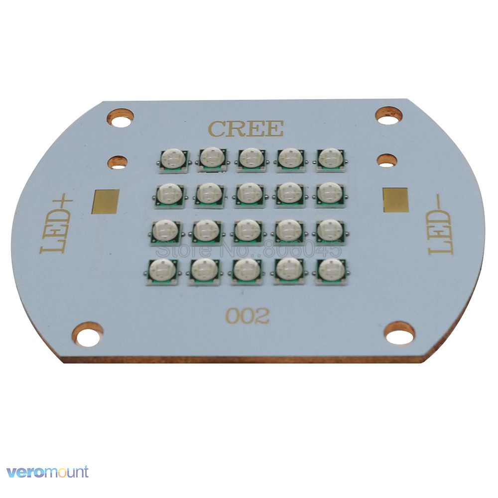 50W - 60W Epileds 3535 20LEDs UV 365nm 385nm 395nm <font><b>420nm</b></font> High Power 20-Chip Intergrated <font><b>LED</b></font> Diode Light Lamp 20pcs 3W 3535 <font><b>LEDs</b></font> image