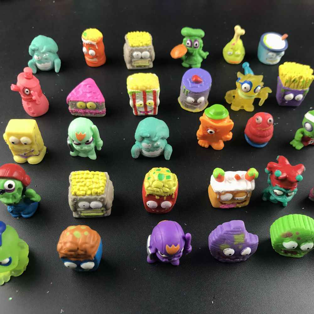 100 stks/partij Populaire Cartoon Anime Action Figures Speelgoed Vuilnis Moose De Grossery Gang Model Speelgoed Poppen Kinderen Christmas Gift