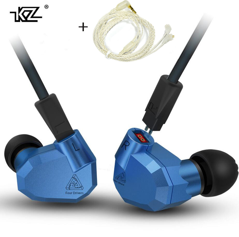 KZ ZS5 2DD+2BA Hybrid In Ear Earphone HIFI DJ Monito Running Sport Earphones Earplug Headset Earbud add upgrade bluetooth cable fashion professional in ear earphones light blue black 3 5mm plug 120cm cable