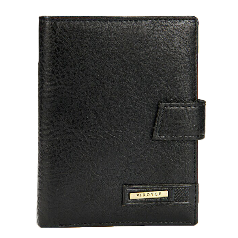 Mens Fashion Leather Billfold Purse Coin Wallet Piroyce Brand Handbag ID Card Passport Holder bolsa da moeda ...