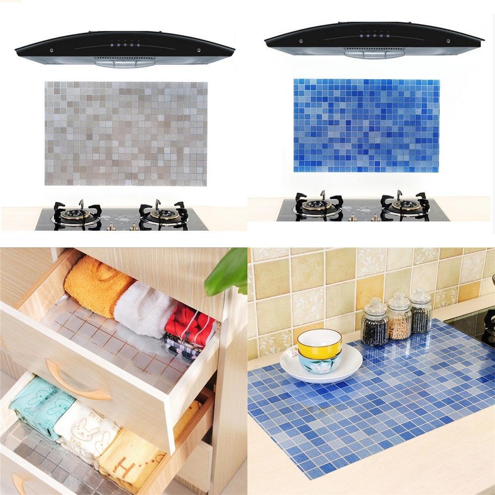 Kitchen Wall Groupings: New Mosaic Oil Proof Waterproof Aluminum Foil Self
