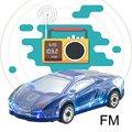 Mini orador em forma de carro colorido led luz flash carro bluetooth alto-falante sem fio tf cartão fm rádio handfree subwoofer ml63