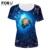 Forudesigns plus size mulheres camisetas mar mundo mangas curtas finding nemo tubarão golfinho impressão senhoras personalizado encabeça tee novidade