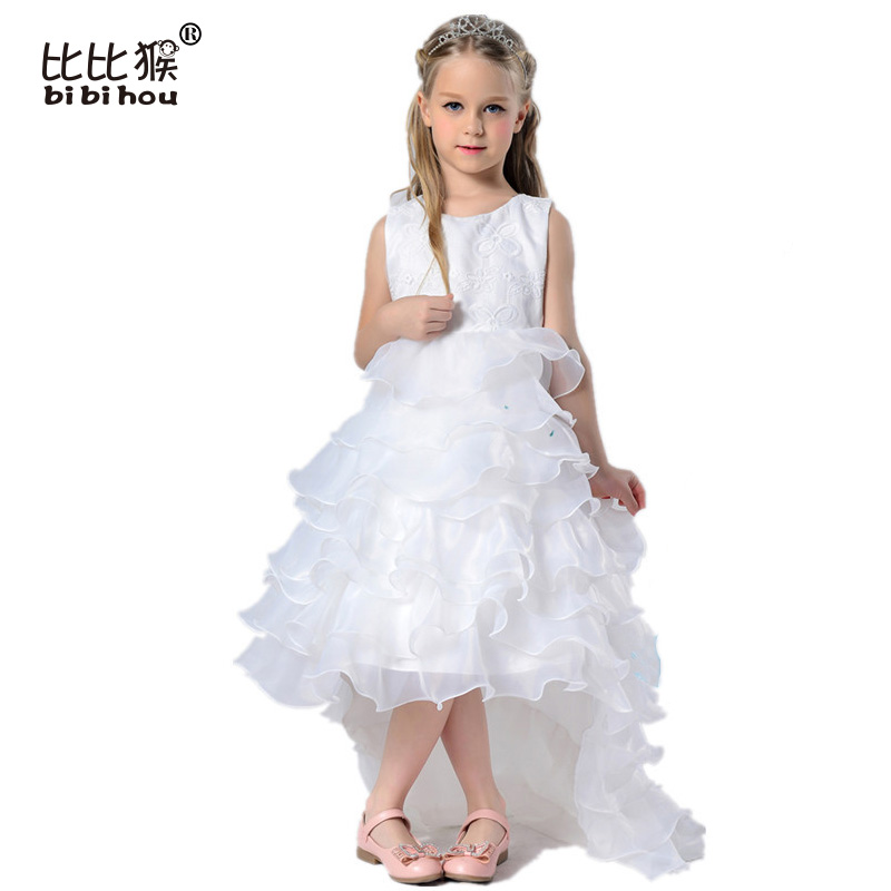 2016 Summer New Kids Wedding Dress Princess Party Costume Infant Clothing Newborn Baby Clothes Birthday Tutu Dresses For Girls geckoistail 2017 new fashional women jacket thick hooded outwear medium long style warm winter coat women plus size parkas