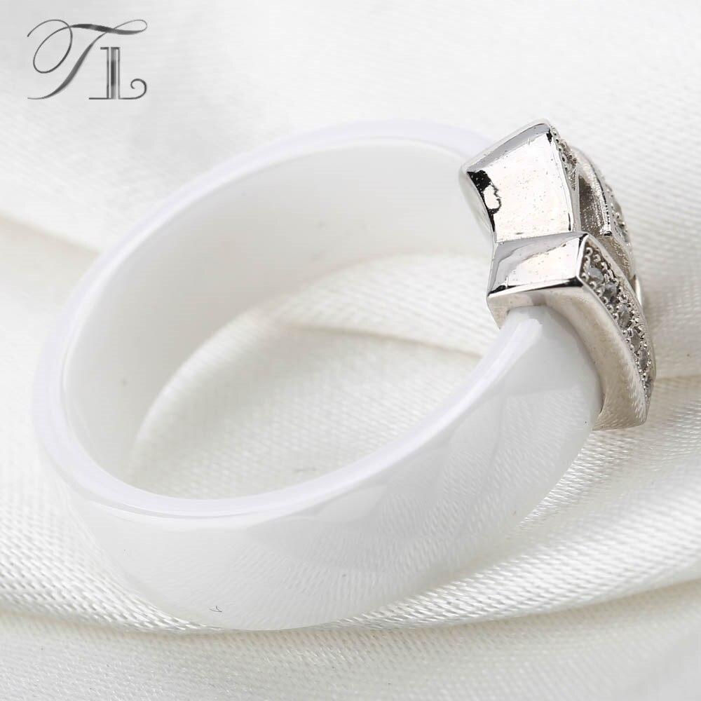 TL Krone Keramik Ringe Für Frauen Verlobungsringe Liebe Designer