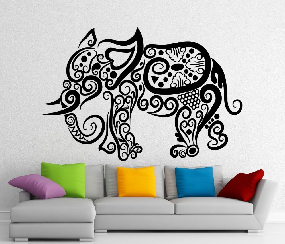 online get cheap elephant living room aliexpress com alibaba group creative elephant pattern wall sticker living room bedroom wall decals home wall art posters removable vinyl
