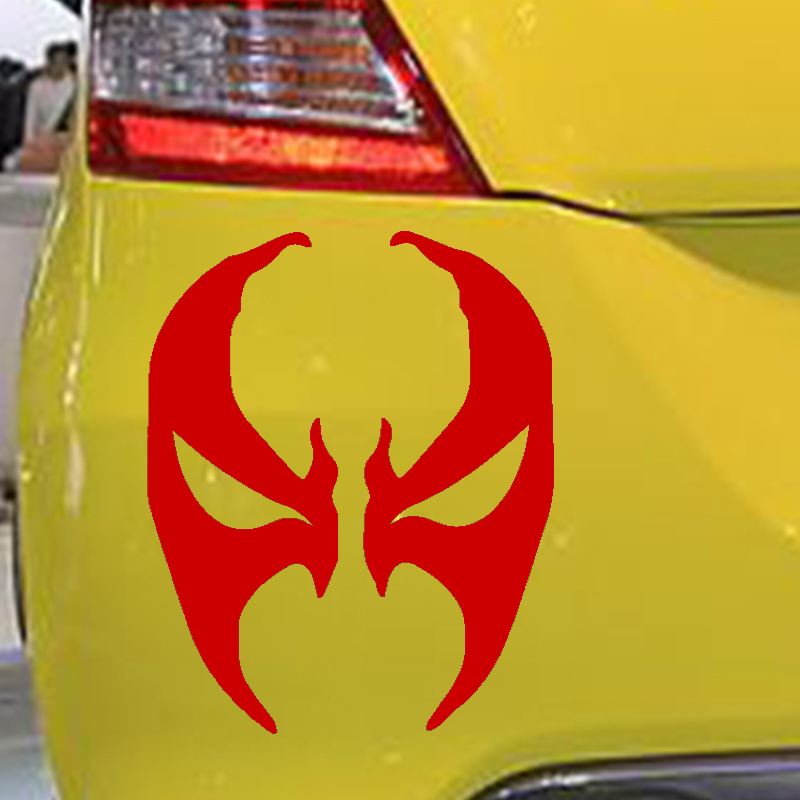 15cm X 12cm Spawn Face Mask Symbol Funny Car Sticker For Truck Window Bumper Auto SUV Door Laptop Kayak Vinyl Decal 9 Colors On Aliexpress