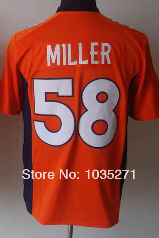 Great quality Game Football Jersey #58 Von Miller Jersey,New Arrival Popular Hot Sale