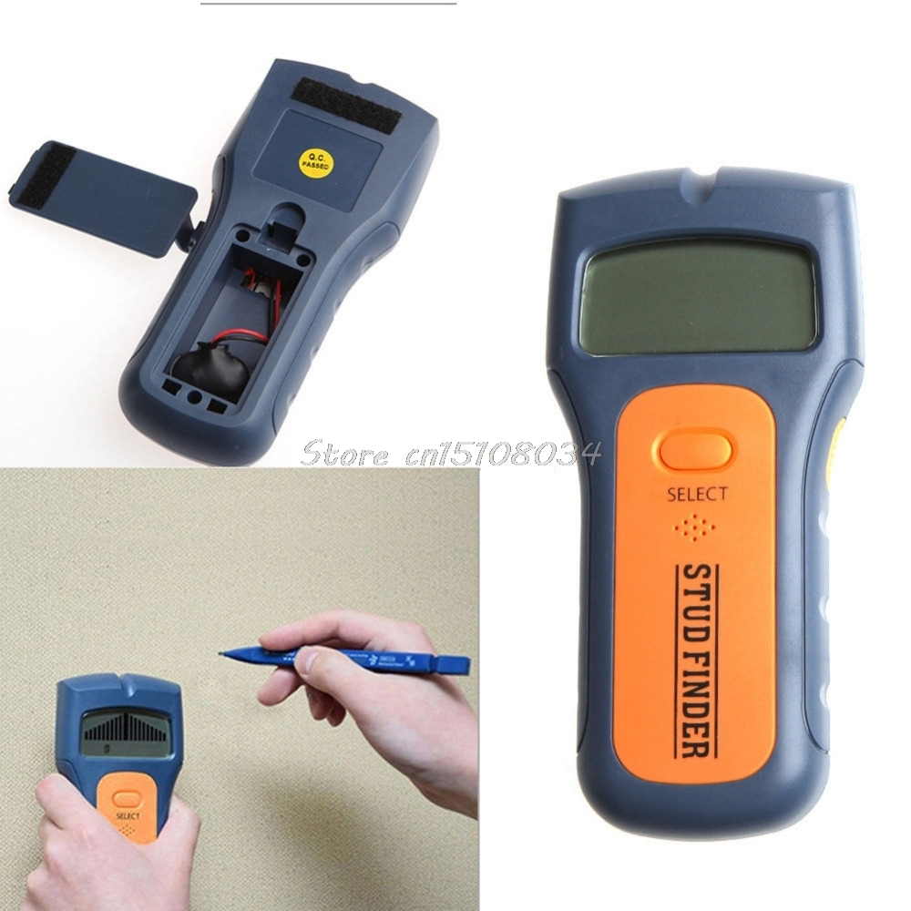 3 in 1 Multi Stud Scanner AC Live Wire Cable Wood Metal Wall Detector Finder S08 Drop ship multi scanner 3in1 lcd wall stud detector metal voltage cable wood finder portable live wire scanner tool