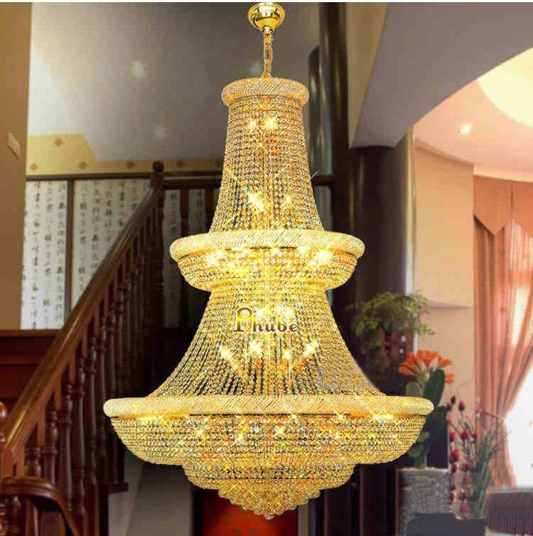 Il massimo della Qualità! Grande Lampadario di Cristallo light Fixture Oro Lampadario di Cristallo di luce Garantito Al 100% + Trasporto Libero!