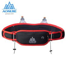 AONIJIE Marathon Jogging Running Waist Bag Hydration Belt Bottle Phone Holder With 170ml Water Bottles