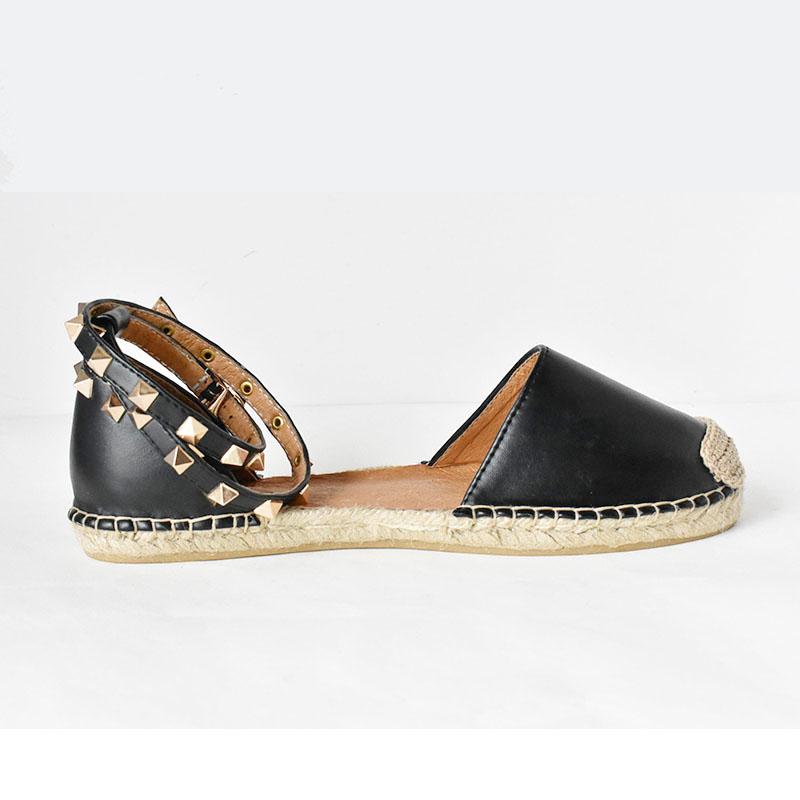 664a72479ec4f New rivet women sandals Hot gold studded Espadrille ankle strap women  casual flats women summer shoes-in Women s Flats from Shoes on  Aliexpress.com ...