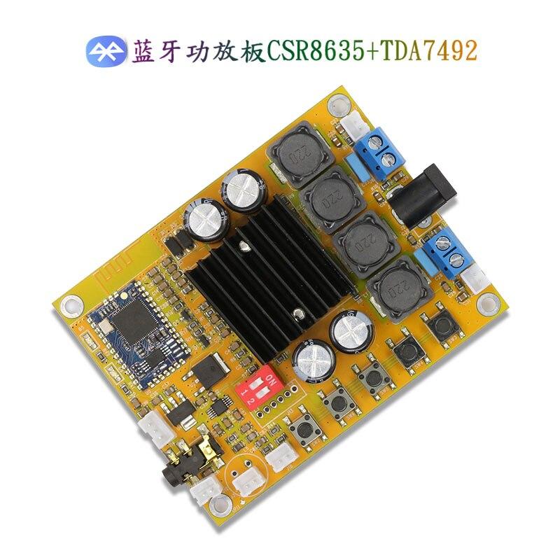 FX-AUDIO <font><b>Bluetooth</b></font> 4.0 <font><b>TDA7492</b></font> усилитель доска 2*50 Вт цифровой усилитель двухканальный CSR8635 DC10 ~ 25 В