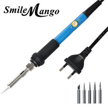 AC 110V / 220V 200-450 Temperature 60W Electric Soldering Iron + 5PC Soldering Iron Tips For SMT SMD Solder Rework Repair