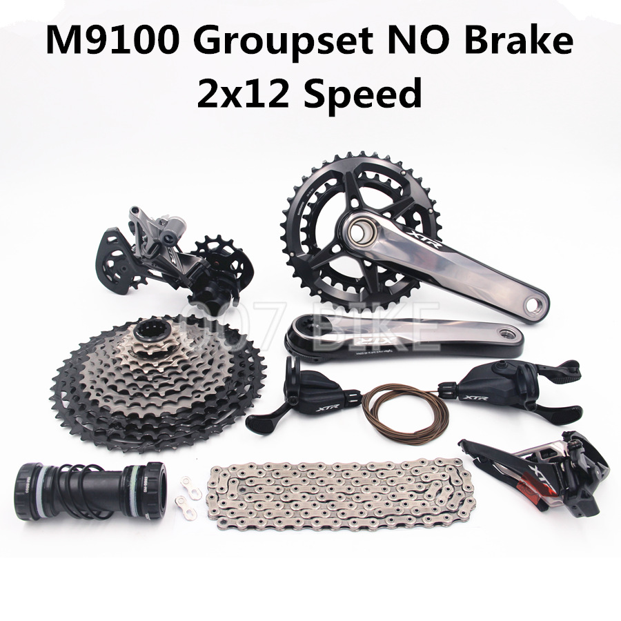 Image 3 - SHIMANO DEORE XTR M9100 Groupset Mountain Bike 2x12 Speed  M9100 Rear Derailleur XTR Shift Cassette 10 45T M9120 brake GroupsetBicycle Derailleur   -