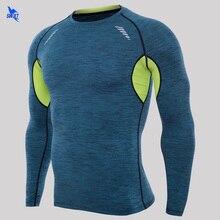 Compression-Tops Training-Shirts Fitness-Tights Rashgard Gym Long-Sleeve Quick-Dry New