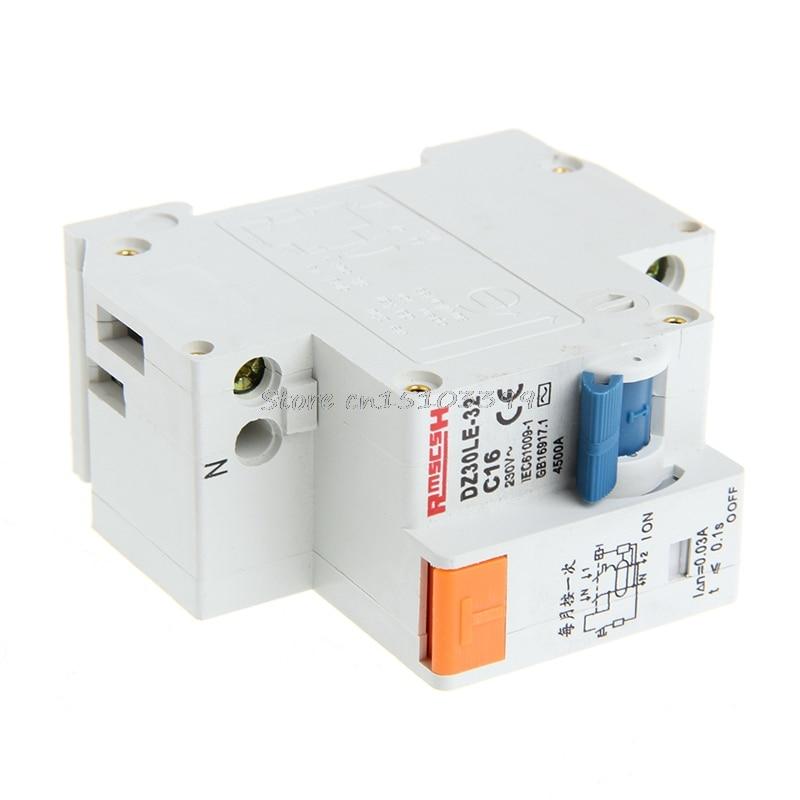 DPNL 1DPNL16A 230 V ~ 50 HZ / 60 HZ 1 P + N Protection Leakage Circuit Breaker G08 Drop ship насос calpeda nm 25 20b b 230 400 50 hz