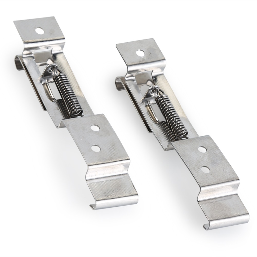 One Pair 8101.730 European Car License Plate Frame Holder Trailer Number Plate Clips Spring Loaded Stainless Steel Bracket Cars