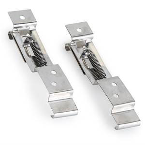 Frame-Holder Trailer-Number-Plate-Clips Car-License-Plate Spring-Loaded Stainless-Steel