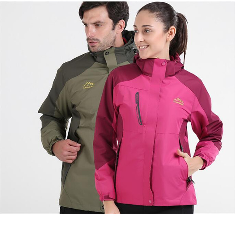 ФОТО 3 in 1 Outdoor Jacket Windproof Waterproof Coat Women Sport Jackets Hiking Camping Winter Thermal Fleece Jacket Ski Clothing