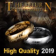 BEIER кольцо с волшебной буквой, черное, серебряное, золотое, титановое кольцо из нержавеющей стали для мужчин и женщин, senhor dos aneis BR-R059