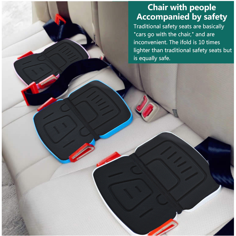 Mifold Portable Baby Car Seat Safety Cushion Harness Travel Pocket Foldable Car Seat Mat for Children Toddler Baby Carseat CE
