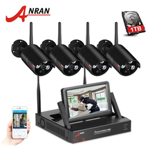 ANRAN 4CH Wifi Camera System HD 7″ LCD Monitor NVR Kit With 720P Outdoor Waterproof Security IP Camera Video Surveillance System