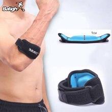 2018 ajustável preto + azul fitness cotovelo suporte cinta almofada neoprene esportes coderas músculo pressurizado protetor
