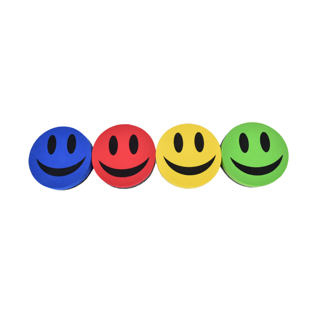 1 Pc  School And Office Smile Face Rubber Whiteboard Cleaner Dry Marker Eraser Magnetic Whiteboard Eraser For Whiteboard