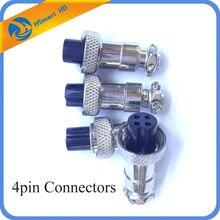 Car Camera 4pin Connectors CABLE CONNECTOR 4pcs With 4pin Connectors Audio Cable Connector For Car Monitor Camera MDVR Systems