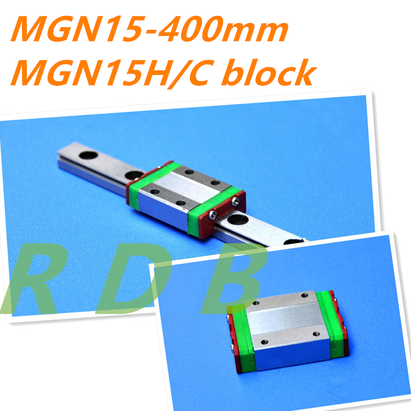 MGN15 15mm Linear Rail Slide Guide MGN15 400mm With MGN15C Block Cnc Parts