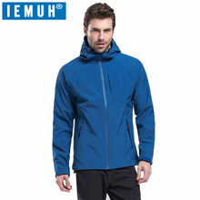 IEMUH Brand Men Sports Outdoor Softshell Hiking Jacket Thicken Windproof Waterproof Skiing Fishing Warming Coats Trekking Jacket 2017 men waterproof windproof anti uv fishing ski hiking coats spring winter outdoor tech fleece softshell two pieces jacket