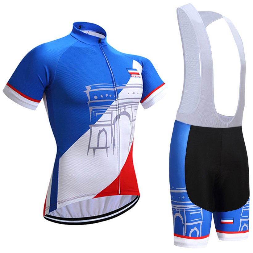 2018 FRANCE TOUR Cycling team jersey bike shorts set Quick Dry Ropa Ciclismo MTB bicycle clothing Mens summer cycling wear cheji team mens bike clothing set ropa ciclismo mtb bike bicycle cycling long sleeve jersey