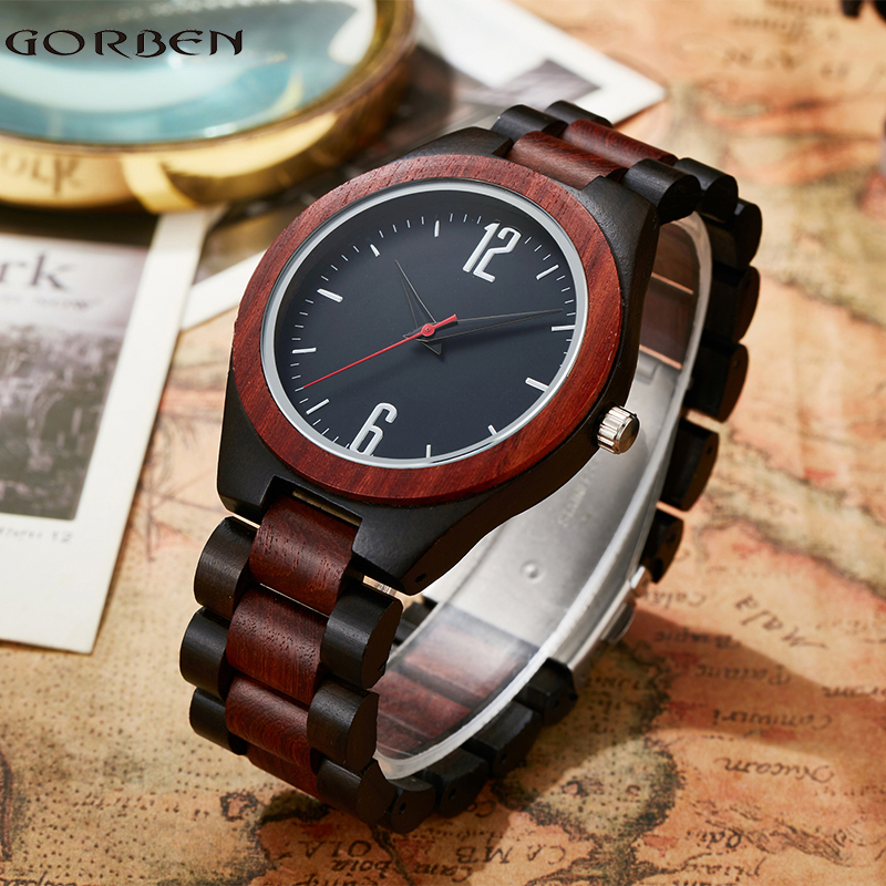 Vintage Brown Wood Watches Top Natural Full Bamboo Men Watch Casual Classical Wooden Strap With Gifts Box For Men Women saat