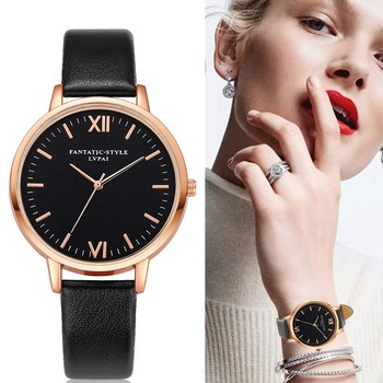. Rose Gold Lvpai Brand Leather Watch Luxury Classic Wrist Watch Fashion Casual Simple Quartz Wristwatch Clock Women Watches