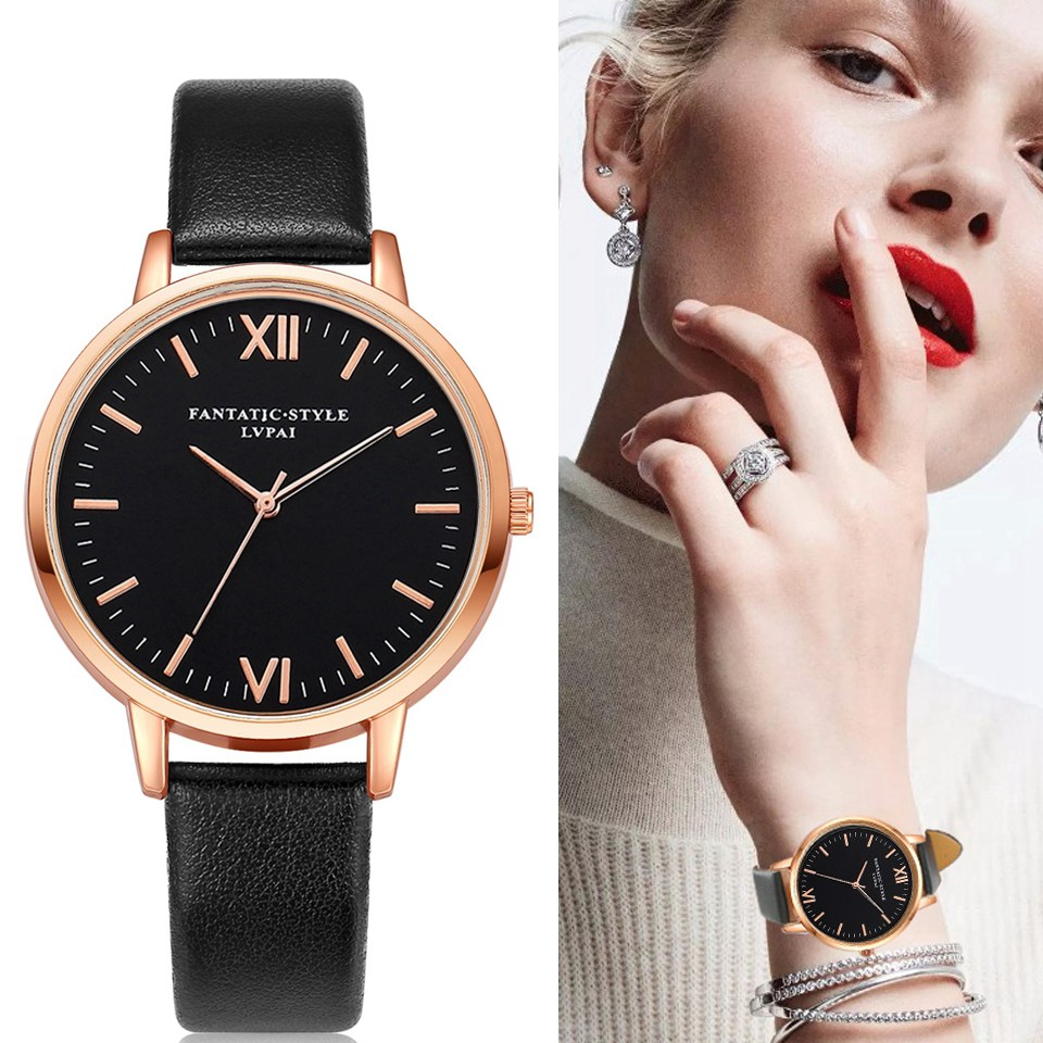 2017 Rose Gold Lvpai Brand Leather Watch Luxury Classic Wrist Watch Fashion Casual Simple Quartz Wristwatch Clock Women Watches kids sport suits boys girls tracksuits children clothing baby infant outfits 4 color fashion sets 2018 spring autumn kid clothes