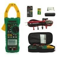 MS2115A Digital Clamp Meter Multimeter DC AC Voltage Current Resistance Capacitance 6000 Counts True RMS INRUSH