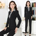 New 2017 Formal Ladies Pant Suits for Women Work Wear Sets Blazer Female Business Professional Clothes Office Uniform Styles