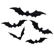 12Pcs/set Black Halloween Wall Sticker 3D Bat Wall Sticker Home Decor Wall Sticker