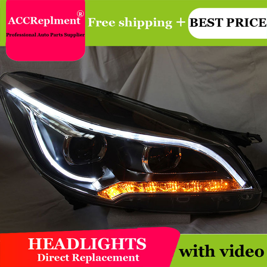 Auto Lighting Style LED Head Lamp for Ford Kuga led headlights 2013 2015 Escape angel eye drl H7 hid Bi Xenon Lens low beam