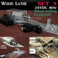 DIY Wood Lathe Mini Lathe Machine Polisher Table Saw for polishing Cutting 80W diy Lathe Cutter