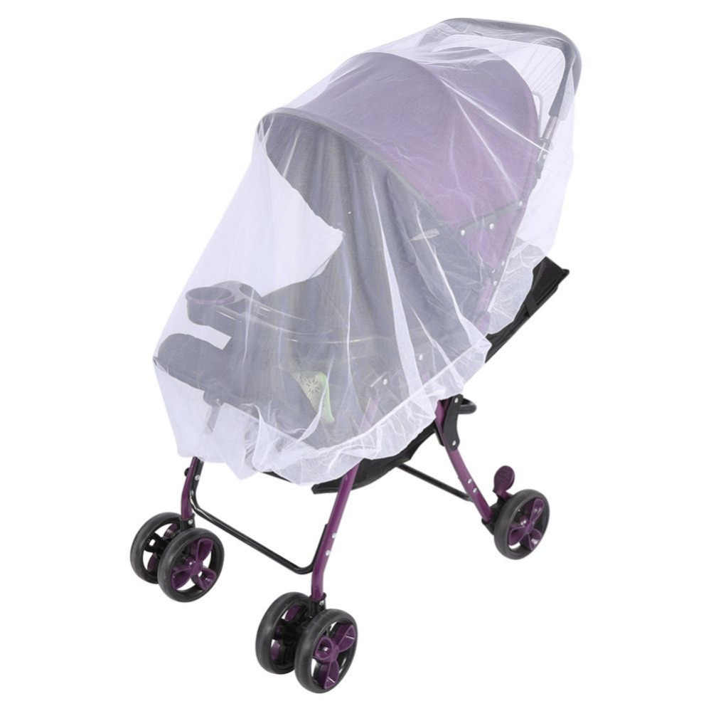Baby Carriage Cart Mosquito Net for Pram Toddler Infant Stroller Crip Netting Pushchair Mosquito Insect Net Safe Mesh Buggy