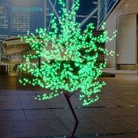 DVOLADOR Праздничная Светодиодная лампа вишневого цвета дерево свет 1,5 м 1,8 м Новогоднее свадебное декоративное дерево ветви лампа Наружное осв