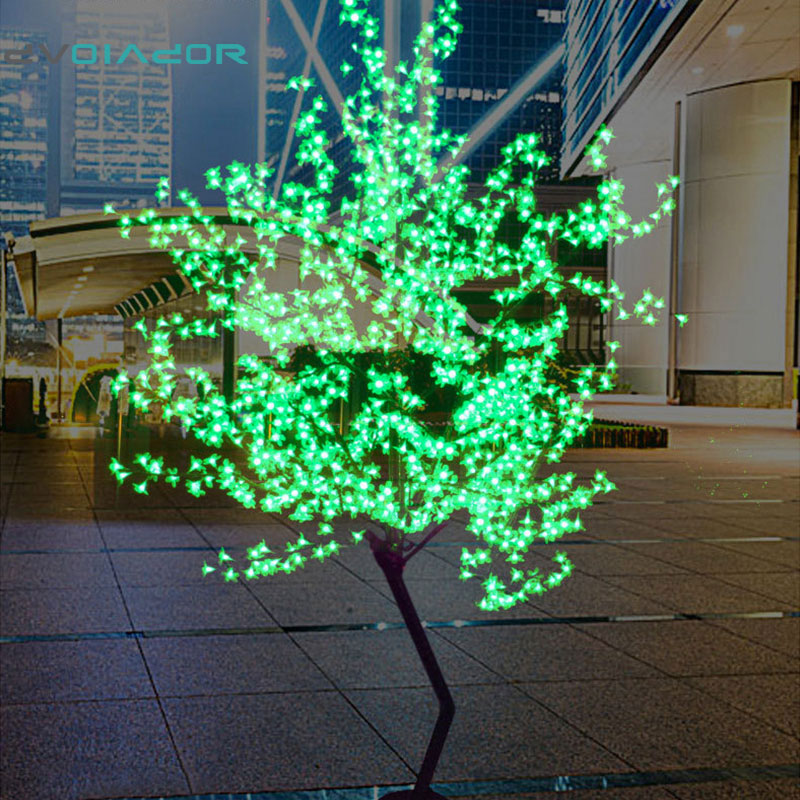 Dvolador праздник света светодио дный Cherry Blossom дерево света 1,5 м 1,8 м Новый год свадебные декоративные ветви дерева лампы наружного освещения