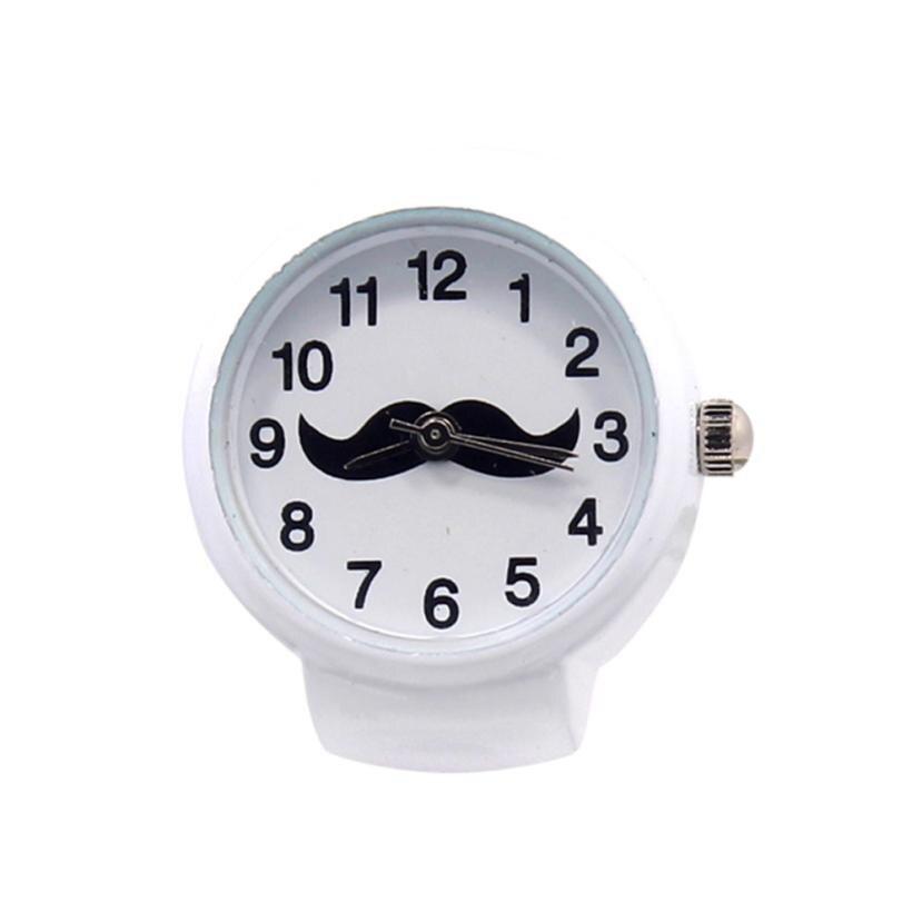Vintage Quartz Lovers' Watch Fashion Dial Quartz Analog Watch Creative Steel Cool Elastic Quartz Finger Ring Watches Gifts B50