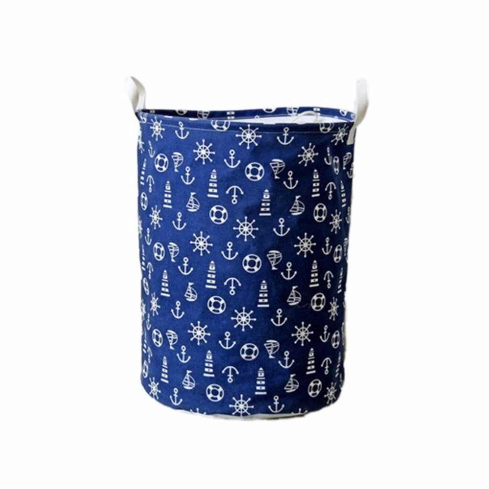 New hot Tecido Não-tecido dobrável saco de armazenamento de Roupas organizador da Cesta para brinquedos Dos Miúdos cesta do armazenamento da Lavanderia do veículo-montado