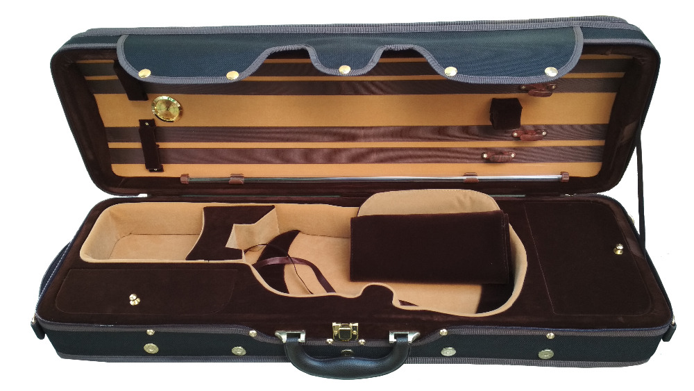 Violin Foam Light Case FPH102 4/4 size Violin with Strap Hygrometer Bow Holder 55 hanks white stallion violin bow hair 6 grams each hank in 32 inches