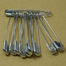 100 шт Серебряные Металлические Булавки для безопасности, брошь, значок, ювелирное изделие, выводы безопасности, аксессуары для шитья