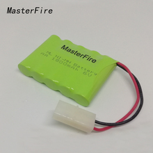 MasterFire New Original AA 6V 1800mAh Ni-MH Battery Rechargeable Batteries Pack With Plugs